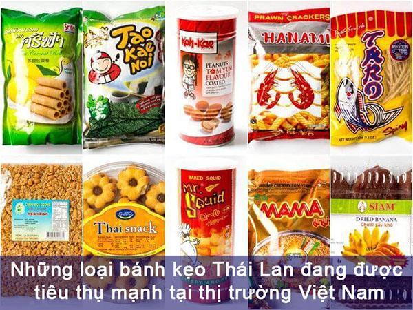 Bánh kẹo Thái Lan ngon
