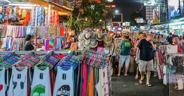 Chợ quần áo ở Thái Lan