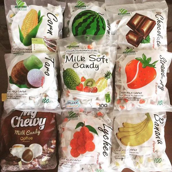 Kẹo trái cây Thái Lan nhập khẩu
