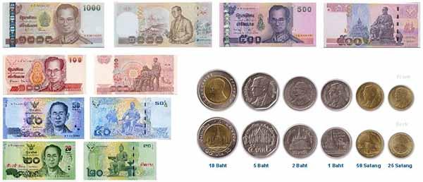 Nệnh giá tiền Thái Lan